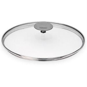 Cristel K26P - Couvercle en verre bombé Platine 26 cm