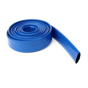 Soditecc Tuyau plastique bleu plat de refoulement O35, le metre