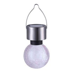 Globo Lighting Ampoule solaire inox - Plastique craquelé translucide - IP44