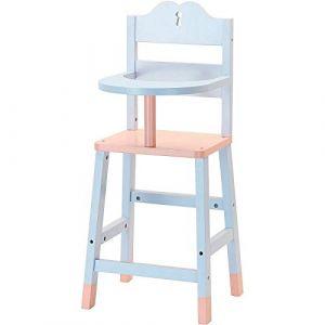 Petitcollin Mobilier pour poupée : Chaise haute en bois