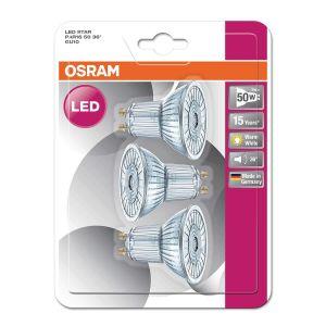Osram Lot de 3 Ampoules Spots LED PAR16 GU10 4,3 W équivalent à 50 W blanc chaud