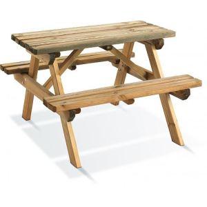 Jardipolys Table de pique nique enfant Wapiti