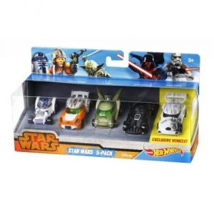 Mattel Hot Wheels - Coffret de 5 véhicules Star Wars