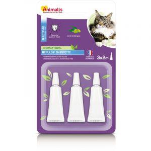 Animalis Répulsif Insectifuge En Pipette Pour Grand Chat - 3x2ml