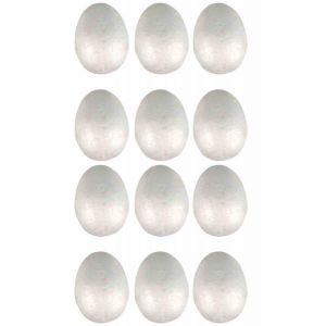 CTOP Œufs en polystyrène 3,2 x 4,5 cm - 12pcs