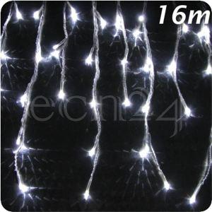 Fdl Guirlande stalactites LED effet chute de neige (16 m)