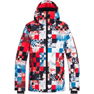 Quiksilver Mission Printed Youth Jkt flame scarlett/money time