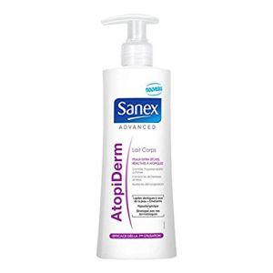 Sanex Advanced Atopiderm - Lait corps peaux extra sèches, réactives à atopiques