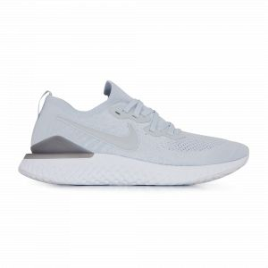 Nike Chaussure de running Epic React Flyknit 2 pour Homme - Argent - Taille 40 - Homme