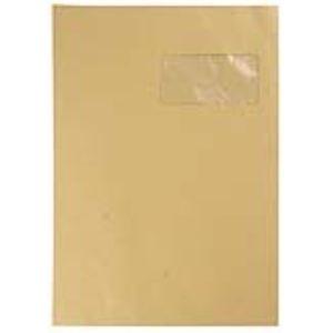 Mystbrand 250 pochettes kraft 22,9 x 32,4 cm avec fenêtre 5 x 11 cm (90 g)