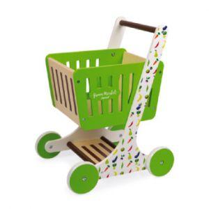 Janod Chariot de courses en bois, Green Market