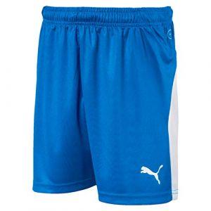 Puma Short de foot LIGA pour enfant, Bleu/Blanc, Taille 164