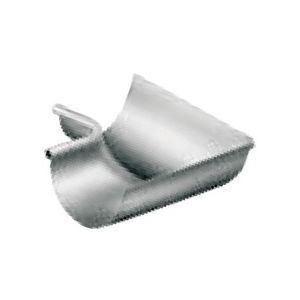 Umicore 220011004 - Equerre gouttière Lyonnaise de 25 zinc naturel extérieur boudin: 18 avec pince
