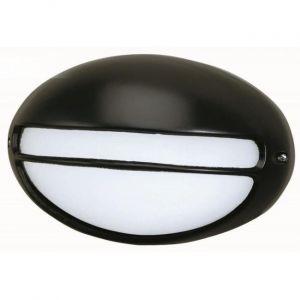 Faro Applique ovale Terra-P - Aluminium et verre opale noir