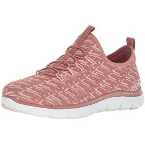 Skechers Flex Appeal 2.0-Insights, Baskets Enfiler Femme, Rose, 41 EU