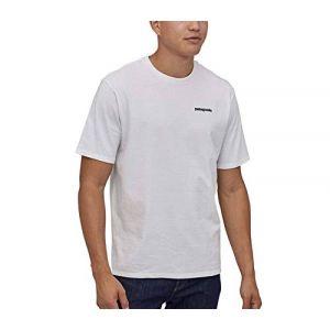 Patagonia M's P-6 Logo Responsibili-Tee T-Shirts Homme, Blanc, M