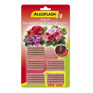 Algoflash Engrais géraniums et plantes fleuries - 25 bâtonnets
