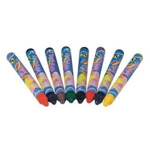 Goki 15093 - 8 crayons de couleur pour tissu