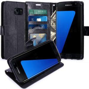 28a9a882cdae3c Housse Coque Etui De Luxe Portefeuille Porte Carte Et Billet - Housse Luxe  Noir   Samsung