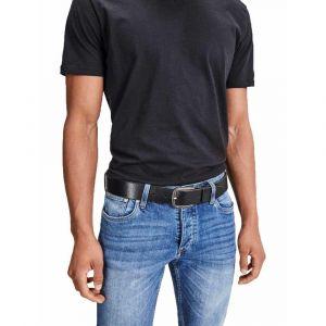 Jack & Jones JJIPAUL JJLEATHER BELT NOOS, Ceinture Homme, Noir (Black), 90 cm (Taille fabricant: 90)
