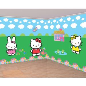 Amscan Décorations murales Hello Kitty