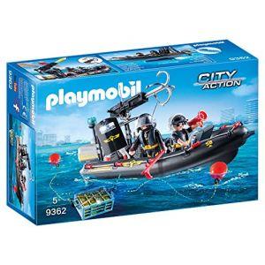 Playmobil 9362 - SWAT : équipe bateau gonflable