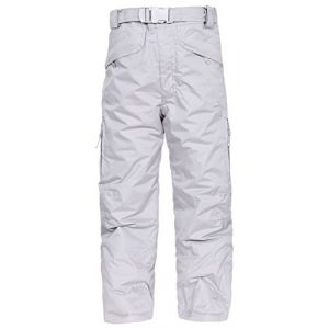 Trespass Marvelous Pantalon de Ski Mixte Enfant, Gris, FR : S (Taille Fabricant : 5-6)
