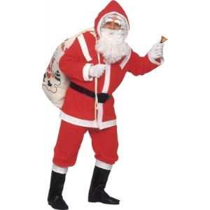 Deguisement Père Noël flanelle (taille unique)