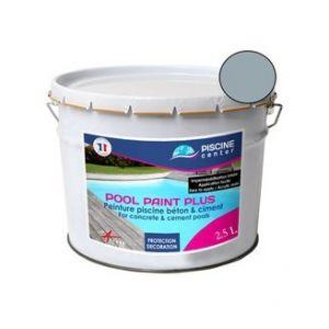 Piscine center o'clair Peinture piscine pool paint plus gris 2,5 l