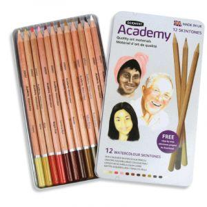 Derwent Coffrets Academy, Set, 12 crayons
