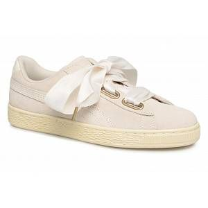 Puma Chaussures WN SUEDE HEART SATIN.WHITE