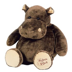 Histoire d'ours Peluche Hippopotame 38 cm