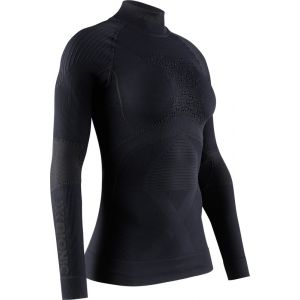 X-Bionic Energy Accumulator 4.0 Shirt Turtle Neck Long Sleeves Women Sport Maillot de Compression Femme, Black/Black, FR : M