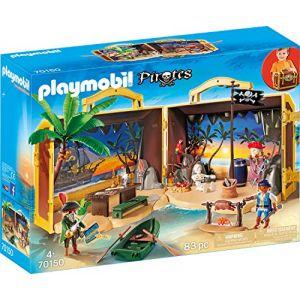 Playmobil Pirates Figurine île des pirates transportable 70150