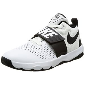 Nike Team Hustle D 8 (GS), Chaussures de Basketball Garçon, Multicolore (White/Black 100), 39 EU