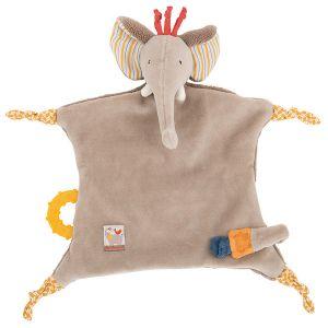 Moulin roty Doudou attache sucette éléphant Les Papoum