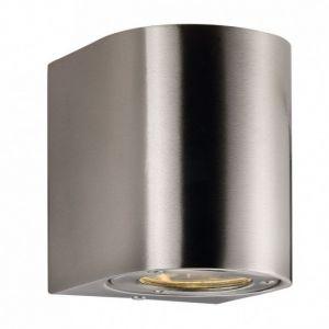 Nordlux Applique d'ext. LED Canto 2, 10 cm, acier inox