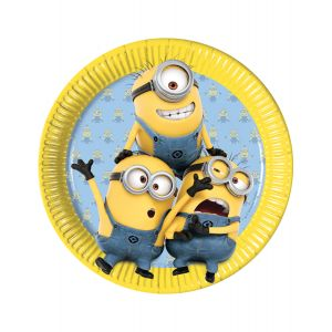 8 assiettes en carton Lovely Minions