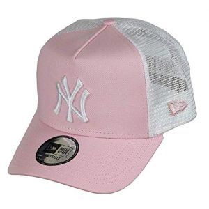 New era New York Yankees A Frame Adjustable Trucker Cap League Essential Rose/White - One-Size