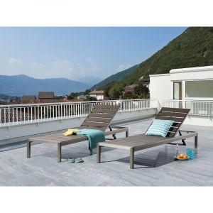 Beliani Nardo - Transat de jardin en aluminium