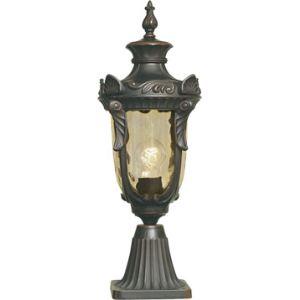 Elstead Borne extérieure Philadelphia en bronze et verre ambre