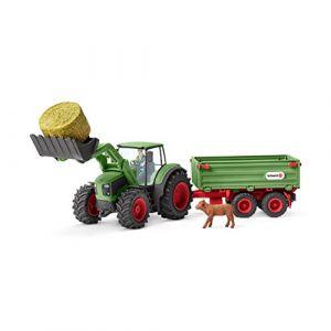 Schleich 42379 - Figurine Tracteur avec remorque