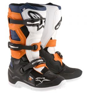 Alpinestars Tech 7 noir/orange/blanc/bleu - Bottes cross