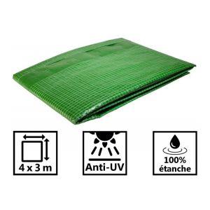 Toile de toit pour tonnelle et pergola 170g/m² verte 4x3 m