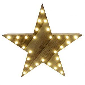 Etoile de Noël lumineuse de couleur brune LED de 30cm