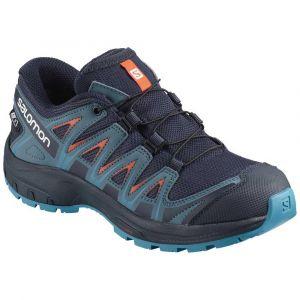 Salomon Enfant XA Pro 3D CSWP J, Chaussures de Trail Running, Imperméable, Bleu/Orange (Navy Blazer/Mallard Blue/Hawaiian Surf), Pointure: 39