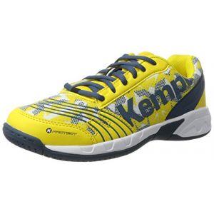 Kettler Kempa Attack, Chaussures de Sport Mixte Enfant, Multicolore (Blaz Jaune/Pétrole/Blanc), 32 EU