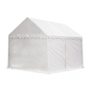 Intent24 Abri / Tente de stockage PREMIUM - 3 x 4 m en blanc