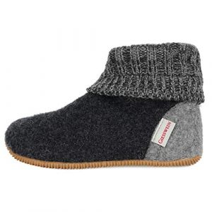 Giesswein Wildpoldsried, Chaussons Montants Mixte Enfant, Gris (Anthrazit 019), 30 EU