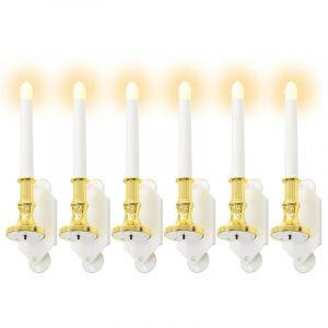 VidaXL Bougie solaire 6 pcs lumières LED blanches chaudes